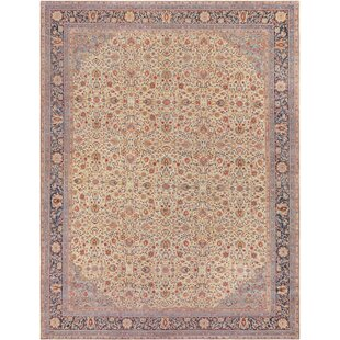 One-of-a-Kind Antique Sivas Handwoven Wool Ivory Indoor Area Rug by Mansour