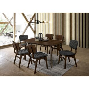 Eager 7 Piece Solid Wood Dining Set George Oliver