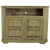 Inouye Solid Wood Corner TV Stand for TVs up to 57 by Highland Dunes