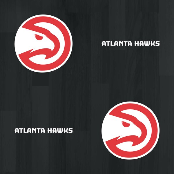 Atlanta Hawks Logo 125 L X 24 W Peel And Stick Wallpaper Roll