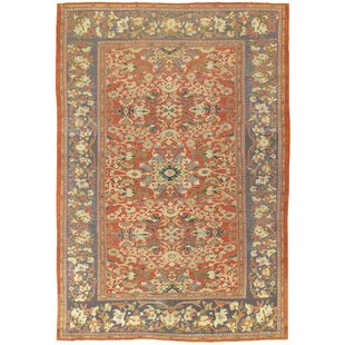 One-of-a-Kind Sultanabad Hand-Knotted 10'1 x 14'7 Wool Red/Beige Area Rug By Pasargad