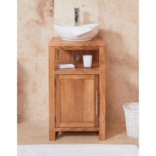 Gagne Solid Oak 46mm Free Standing Vanity Unit By Ebern Designs