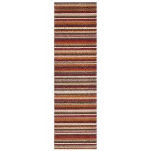 Yasmin Orange/Brown/Beige Rug by Longweave