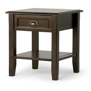 Compare & Buy Burlington End Table with Storage BySimpli Home
