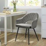 Oviedo Metal Windsor Back Arm Chair in Gray (Set of 2) by Corrigan Studio®