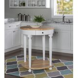 Wadhurst Kitchen Cart Solid + Manufactured Wood by Charlton Home®
