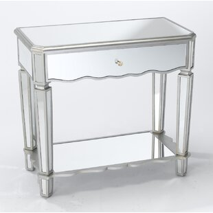 Almendarez Single Drawer Mirrored Console Table