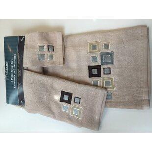 3 Piece 100% Cotton Towel Set by Winston Porter 2019 Sale