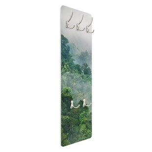 Jungle In The Fog Wall Mounted Coat Rack By Symple Stuff