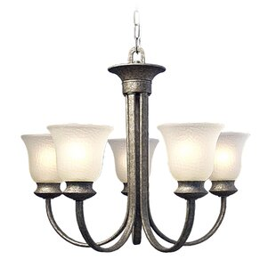 Dresden 5-Light Shaded Chandelier by Woodbridge Lighting