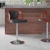 Hartung Adjustable Height Swivel Bar Stool by Orren Ellis