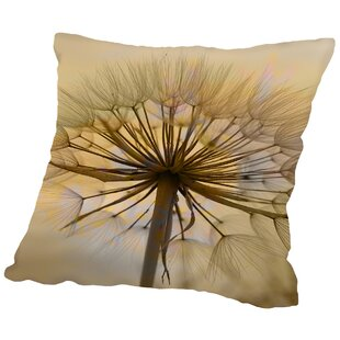 Dandelion Flower Nature Throw Pillow