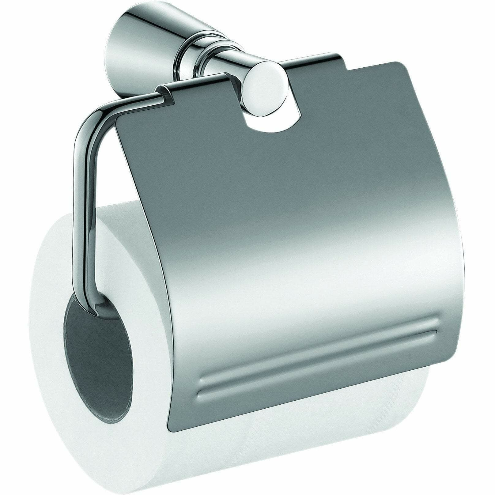 Orren Ellis Sotomayor Wall Mount Toilet Paper Holder With Lid Cover Wayfair