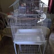 Tucker Murphy Pet Holtzman Pagoda Small Bird Cage With Stand Reviews Wayfair