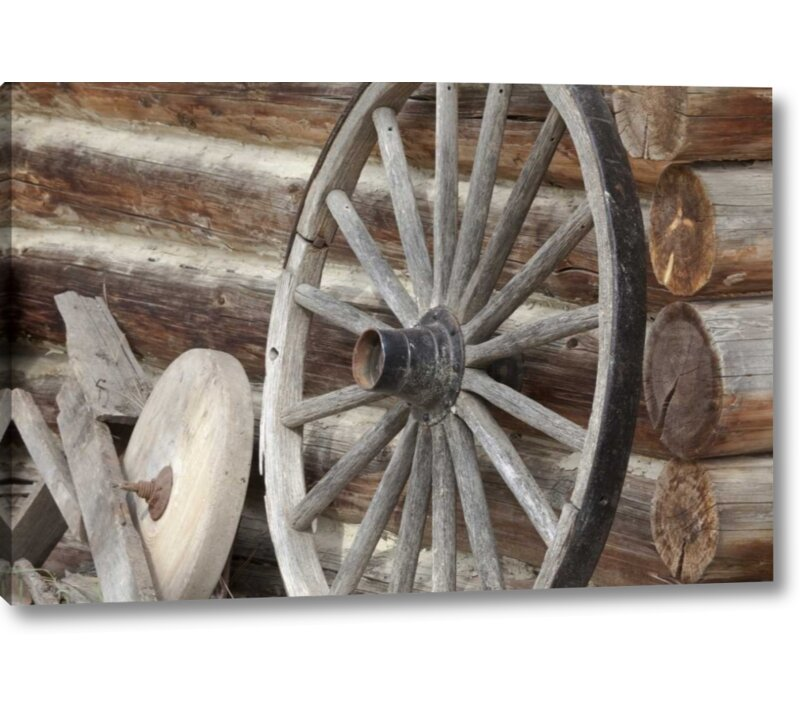 Millwood Pines Canada Bc Fort Steele Old Wagon Wheel Photographic Print On Wrapped Canvas Wayfair