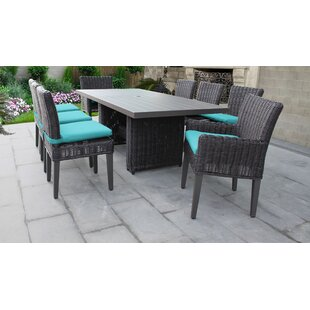 TK Classics Venice 9 Piece Outdoor Patio Dining Set with Cushions