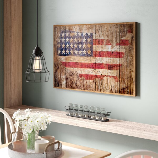 Ordinaire Wooden American Flag Wall Art   Wayfair