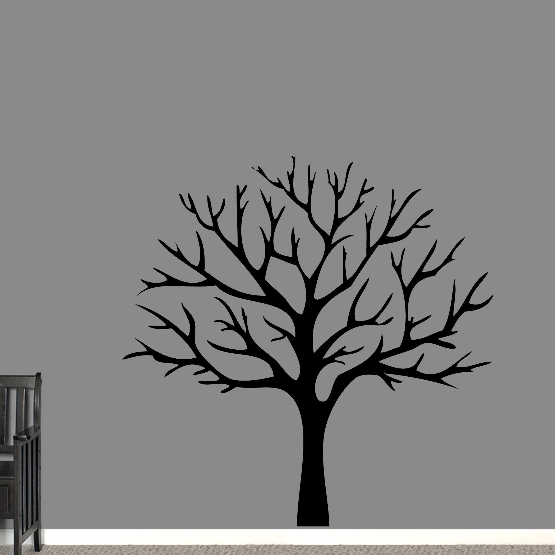e891adfd10e0 Winston Porter Aquinas Winter Tree Wall Decal   Wayfair