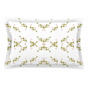 Jennifer Rizzo 'Holiday Holly Berries' Floral Sham