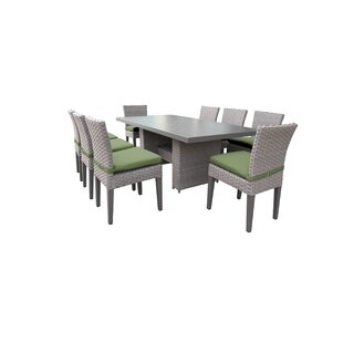 Kenwick 9 Piece Outdoor Patio Dining Set with Cushions
