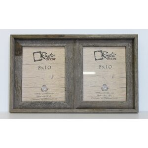 Barn Wood Vertical 2 Opening Collage Picture Frame