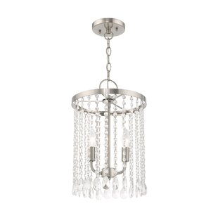 Loyce 2-Light Crystal Pendant by House of Hampton
