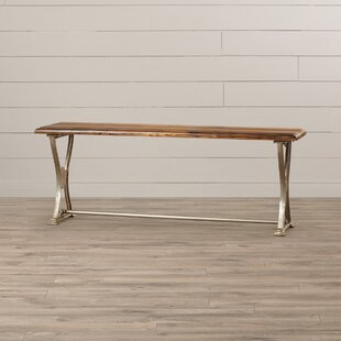 Garth Wood and Metal Bench by Millwood Pines