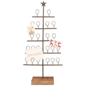 Metal Christmas Tree Card Holder