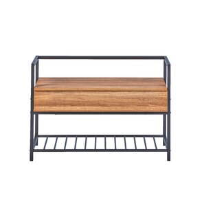Check Price Polenace Wood And Metal Storage Bench