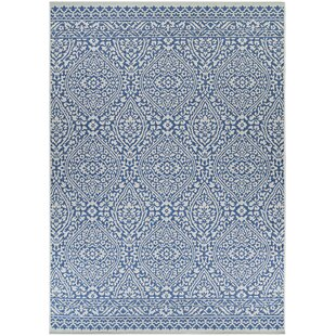 Charis Flower Blue/Brown Indoor/Outdoor Area Rug