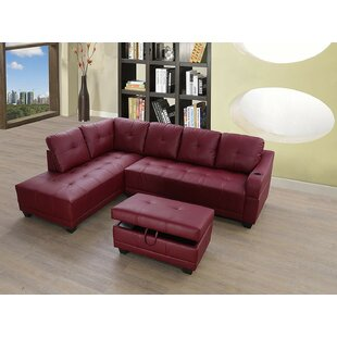 Red Barrel Studio Botkin Sectional with O..