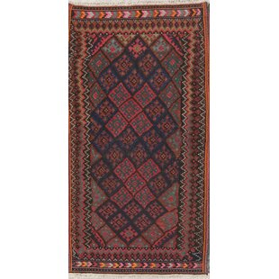 Price Check One-of-a-Kind Stepanie Kashkoli Persian Hand-Knotted 4' 7'' x 8' 7'' Wool Brown/Black Area Rug By Isabelline