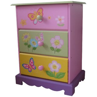 Butterfly Garden 3 Drawer Chest of Drawers by Liberty House Toys