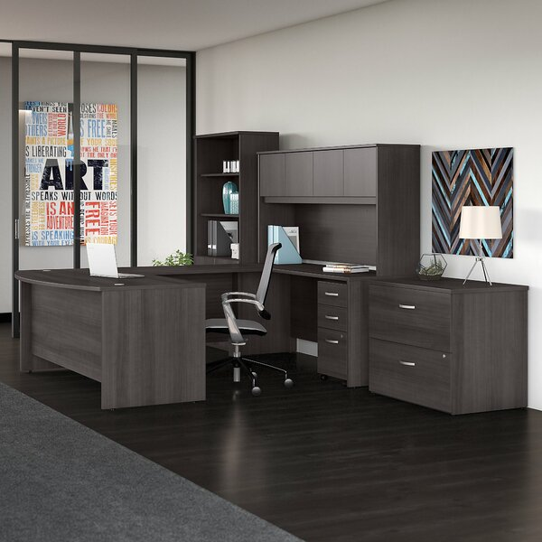 bush business furniture studio c 7 piece u shaped desk office