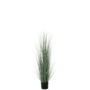 2 Artificial Onion Grass In Planter Set Image