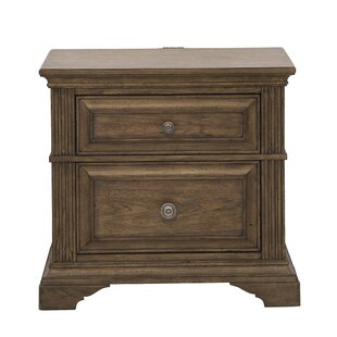 Huddleston 2 Drawer Nightstand by Loon Peak