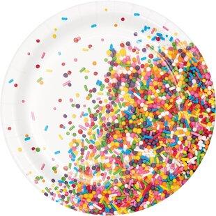 Confetti Sprinkles Appetizer Plate (Set of 24)