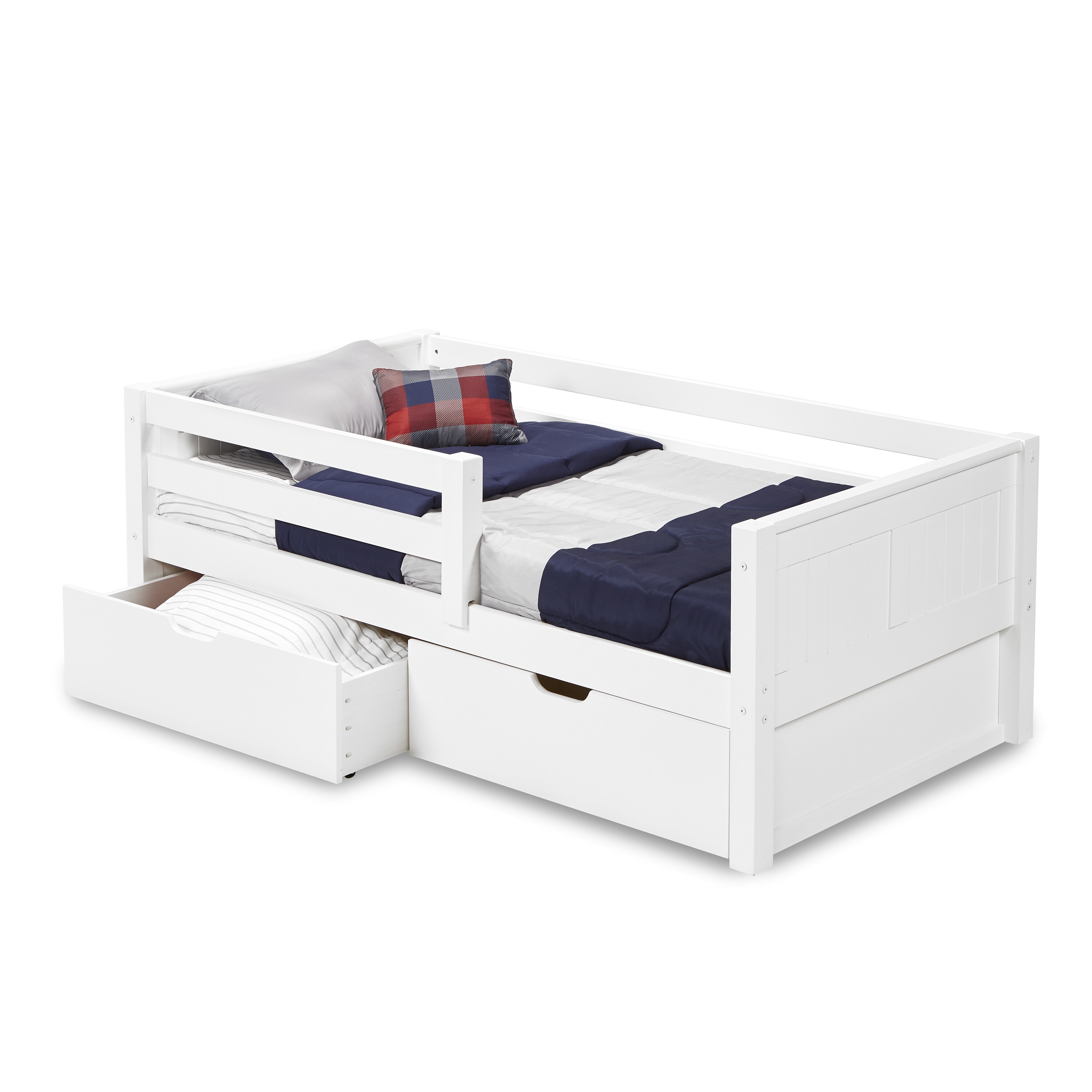 Mack Milo Burkley Twin Platform Bed With Drawer Reviews Wayfair