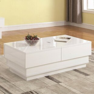 Nordheim Contemporary Solid Coffee Table with Storage