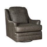 Jodzio 35 W Top Grain Leather Swivel Club Chair by Westland and Birch