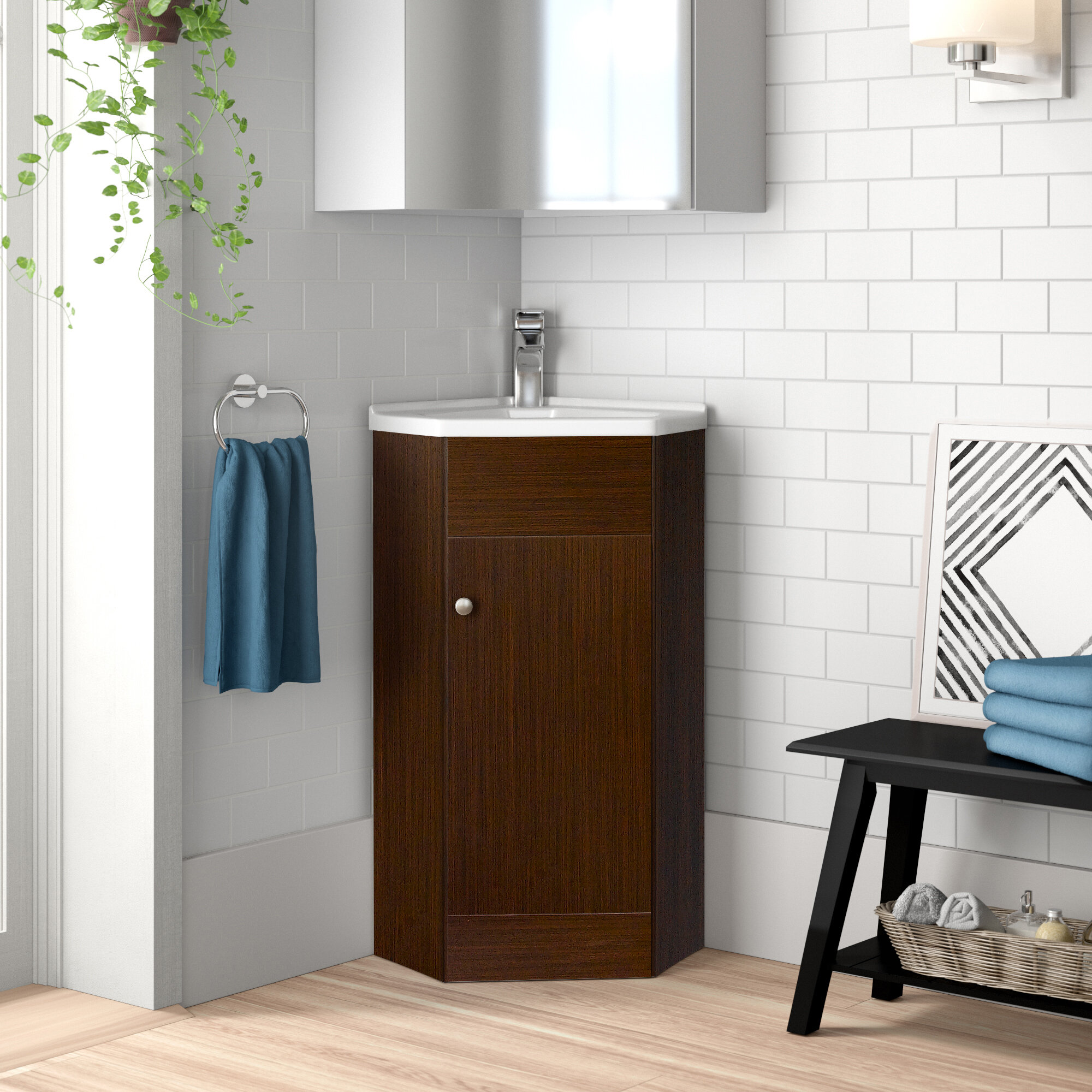 Corner Bathroom Vanities You Ll Love In 2021 Wayfair