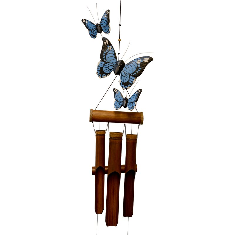 Cohasset Gifts Garden Monarch Butterfly Harmony Bamboo Wind Chime Wayfair