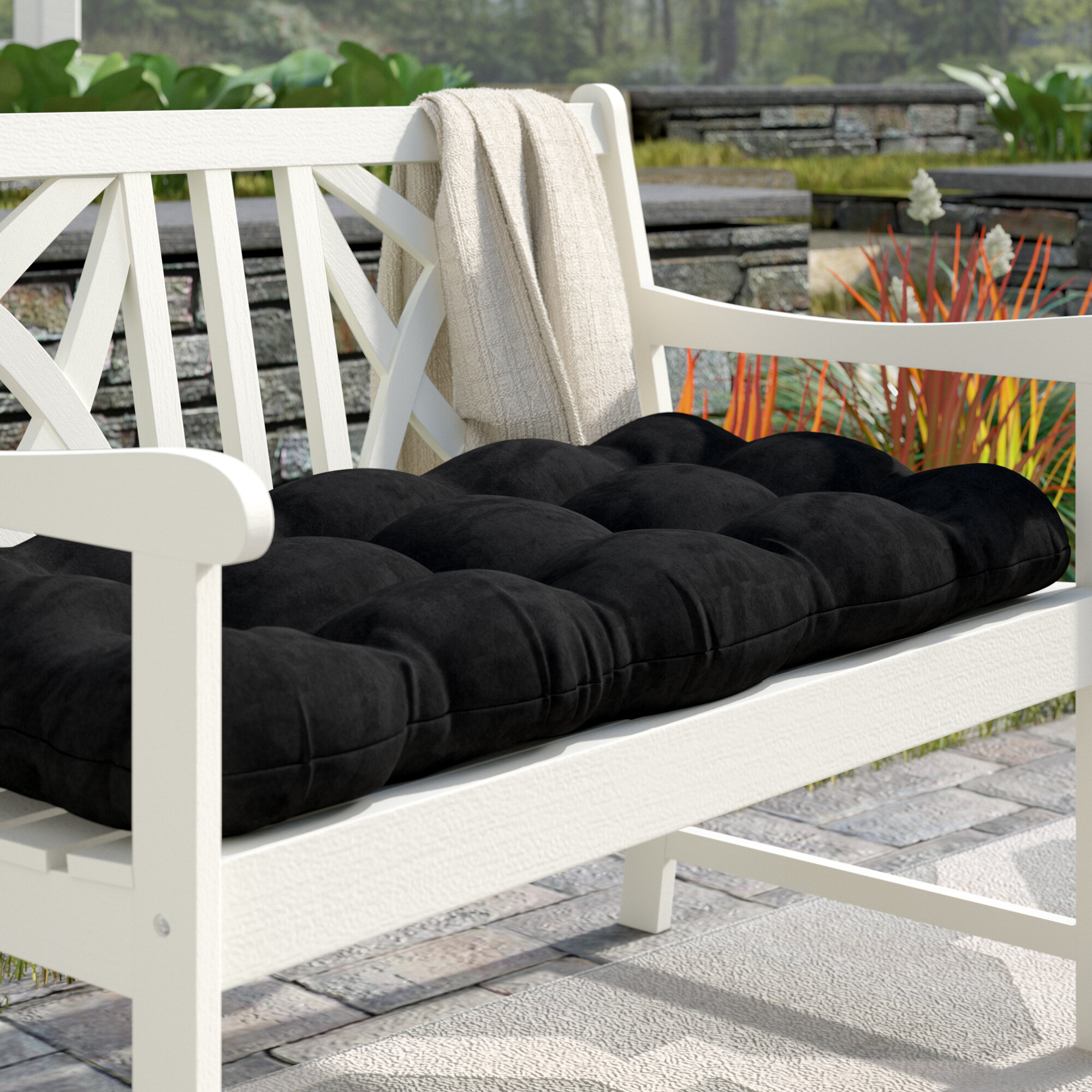 Picture of: Charlton Home Sewn Indoor Bench Cushion Reviews Wayfair