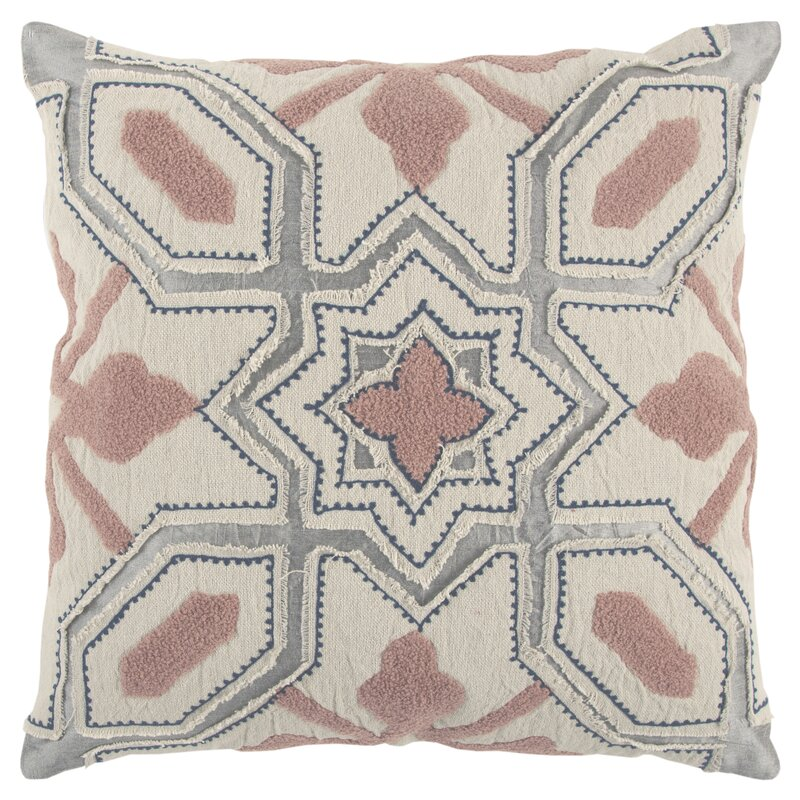 Datura Decorative 100% Cotton Throw Pillow