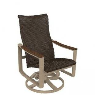 Brazo Woven High Back Swivel Rocking Chair