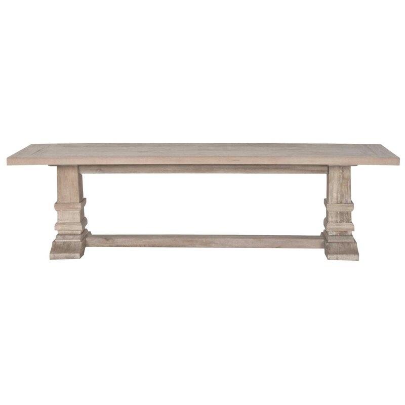 Parfondeval Double Pedestal Dining Bench