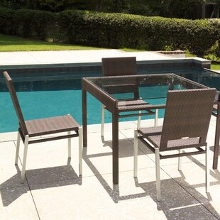 All-Weather Pacific Square Wicker Rattan Dining Table By Woodard