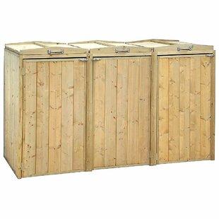 Cumbie Wooden Triple Bin Store By Rebrilliant