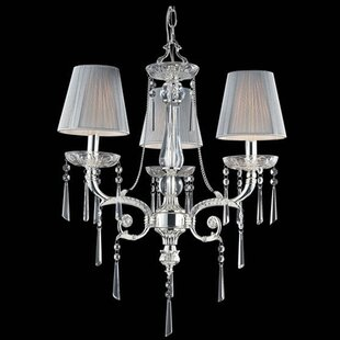 Kinser 3-Light Shaded Chandelier by House of Hampton