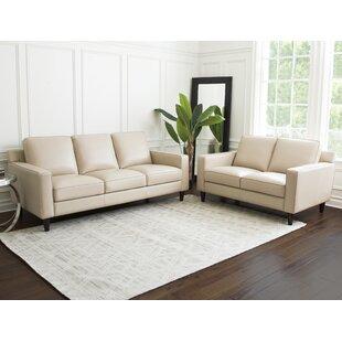 Darby Home Co Oaklynn 2 Piece Leather Liv..